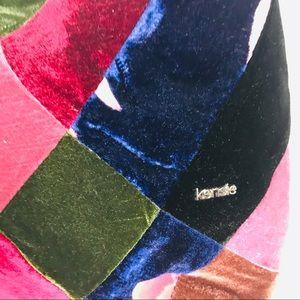 Kensie Bags - Kensie Velvet Patchwork Purse Handbag